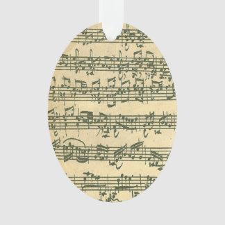 Bach Chaconne Violin Music Manuscript Ornament