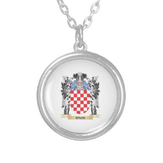 Bach Coat of Arms - Family Crest Round Pendant Necklace