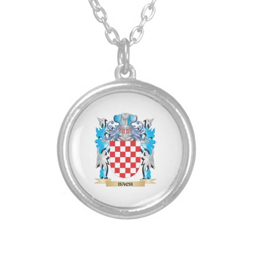Bach Coat of Arms Personalized Necklace