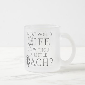 Bach Funny Gift Frosted Glass Coffee Mug