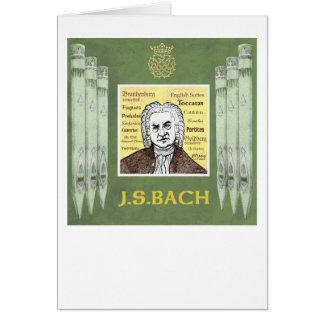 BACH greetings card