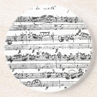 Bach music coaster