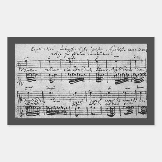 Bach Ornamentation Explanation Rectangular Sticker