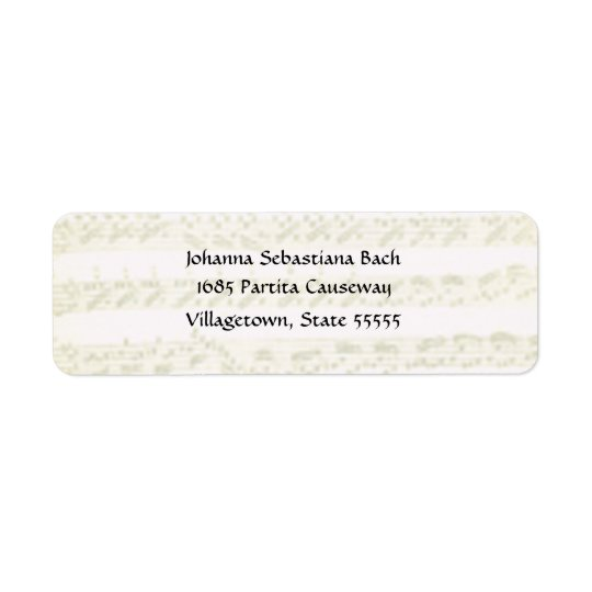 Bach Partita Address Label