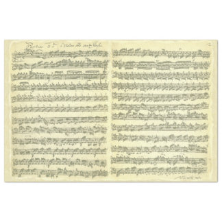 Bach Partita for Solo Violin Music Manuscript Tissue Paper