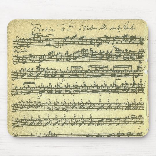 Bach Partita Music Manuscript for Solo Violin Mouse
