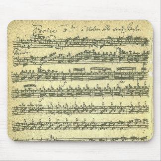 Bach Partita Music Manuscript for Solo Violin Mouse Pad