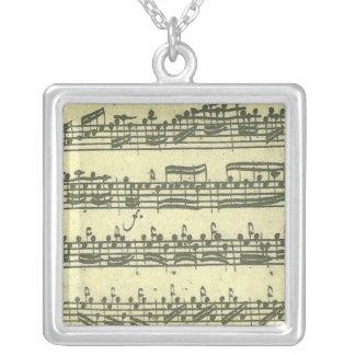 Bach Partita Square Pendant Necklace