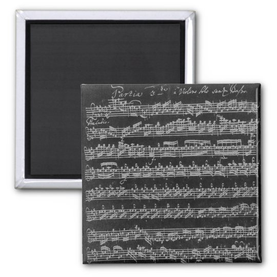 Bach Partita White on Black Magnet