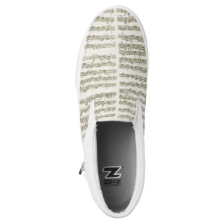 Bach Second Cello Suite Music Manuscript Slip-On Shoes