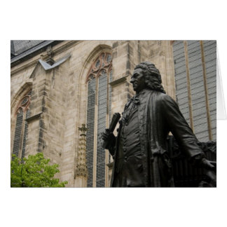 Bach Statue Greeting Card