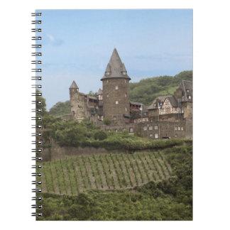 Bacharach, Germany, Stahleck Castle, Schloss Spiral Notebook