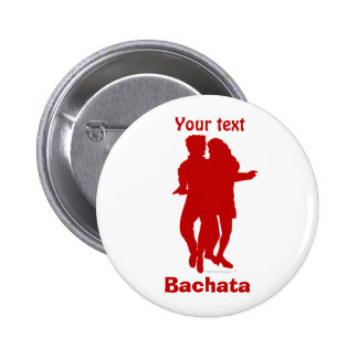 Bachata Bachata Dancers Silhouette Custom 6 Cm Round Badge
