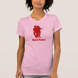 Bachata Bachata Latin Dancers Silhouette Pink Tee