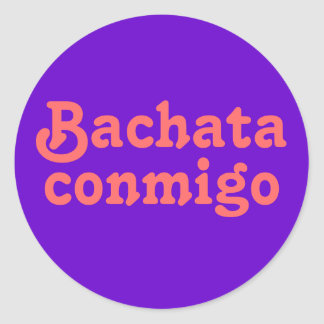 Bachata Conmigo Latin Salsa Dancing Custom Stickers