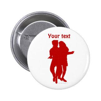 Bachata Latin Dancers Silhouette Custom 6 Cm Round Badge