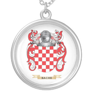 Bache Coat of Arms (Family Crest) Round Pendant Necklace