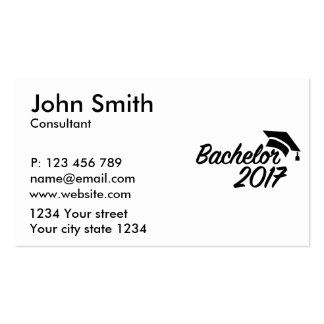 Bachelor 2017 pack of standard business cards