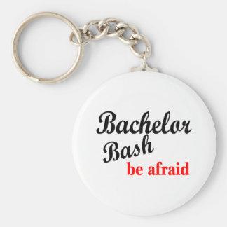 Bachelor Bash Be Afraid Basic Round Button Key Ring
