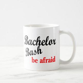Bachelor Bash Be Afraid Basic White Mug