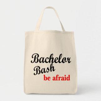 Bachelor Bash Be Afraid Grocery Tote Bag