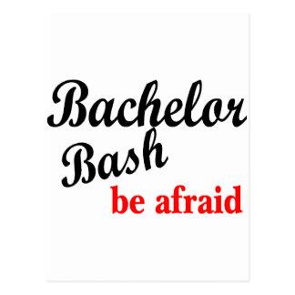 Bachelor Bash Be Afraid Postcard