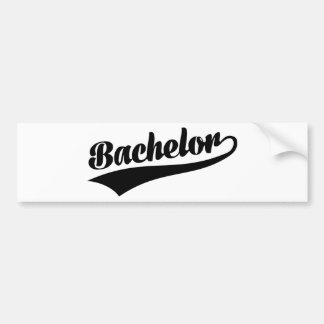 Bachelor Car Bumper Sticker