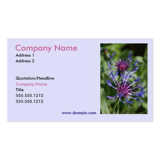 Bachelor Button Business Card