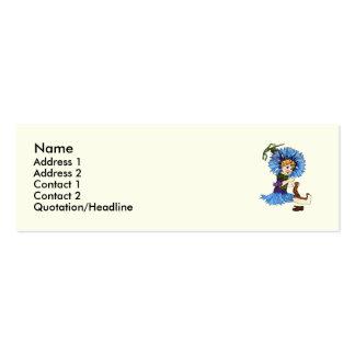 Bachelor Button Business Card Template