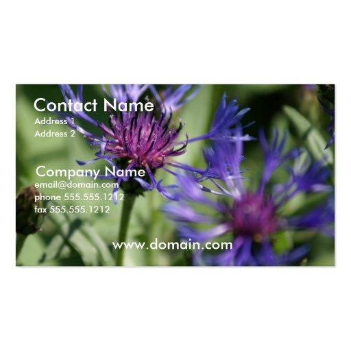 Bachelor Button Plant Business Card