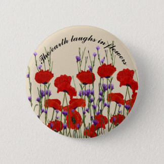 Bachelor Buttons and Poppies, Red and Purple