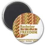BACHELOR FREEDOM : Ideal Gift for ENGAGEMENT Fridge Magnet