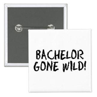 Bachelor Gone Wild (Blk) 15 Cm Square Badge