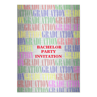 Bachelor Graduation Party Invitation,Silver 13 Cm X 18 Cm Invitation Card