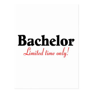 Bachelor Limited Time Only Postcard