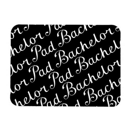 Bachelor Pad Diagonal Script Pattern B&WI Flexible Magnet