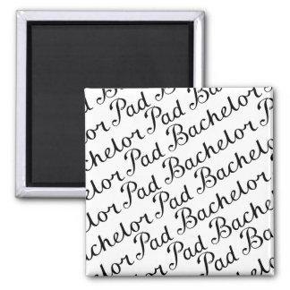 Bachelor Pad Diagonal Script Pattern B&WII Refrigerator Magnet
