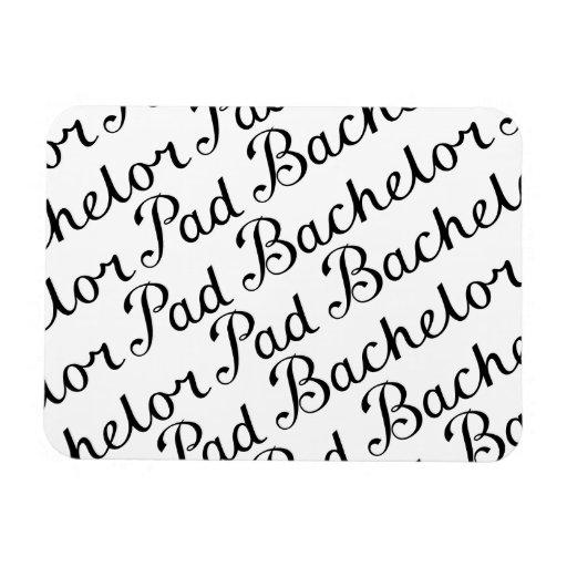 Bachelor Pad Diagonal Script Pattern B&WII Rectangle Magnets