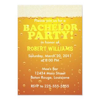 Bachelor Party 13 Cm X 18 Cm Invitation Card