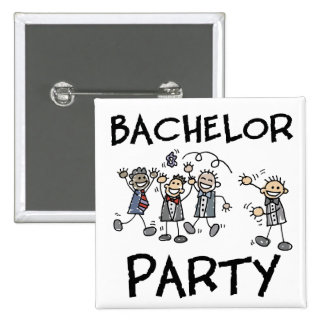 Bachelor Party 15 Cm Square Badge