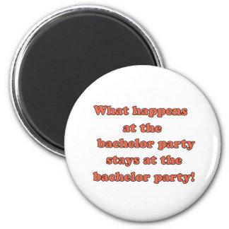Bachelor Party 6 Cm Round Magnet