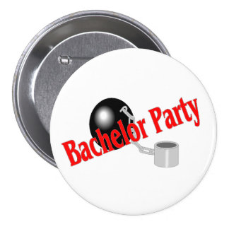 Bachelor Party Ball and Chain 7.5 Cm Round Badge