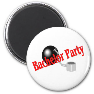 Bachelor Party Ball and Chain Fridge Magnets