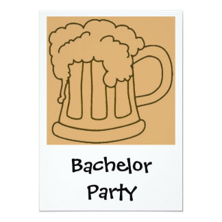 Bachelor Party Beer Card