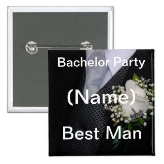 Bachelor Party Best Man 15 Cm Square Badge