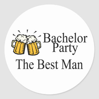 Bachelor Party Best Man (Beers) Sticker
