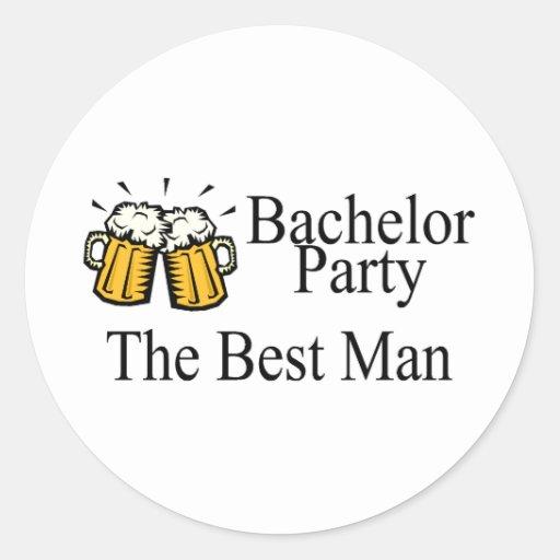 Bachelor Party Best Man Wedding Sticker