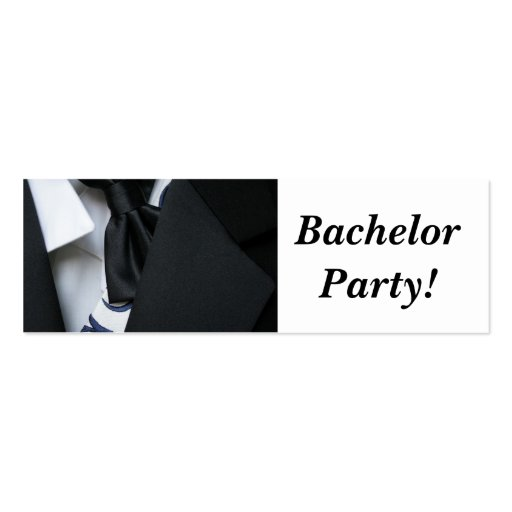 Bachelor Party Business Card