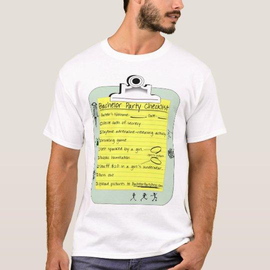 Bachelor Party Checklist T-Shirt