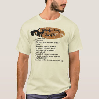 Bachelor Party Checklist T-Shirt
